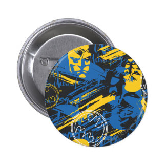 Städtische Legenden Batmans - Hauptblau/Gelb des m Runder Button 5,7 Cm