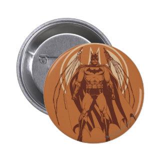 Städtische Legenden Batmans - orange Flügel Runder Button 5,1 Cm