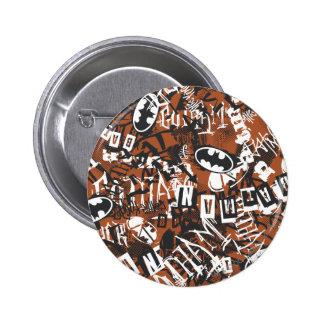 Städtische Legenden Batmans - Schmutz-Logo-Muster  Runder Button 5,1 Cm