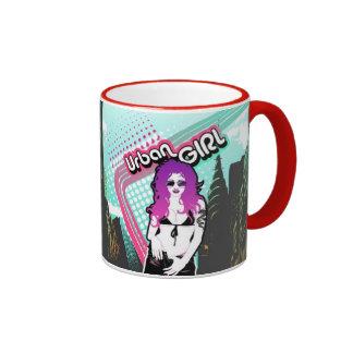 Städtische Mädchen-Tasse Ringer Tasse