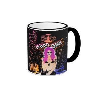 Städtische Mädchen-Tasse