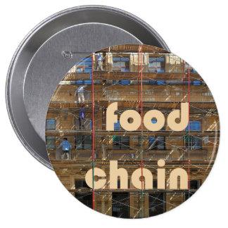 städtische Nahrungskette Anstecknadelbuttons