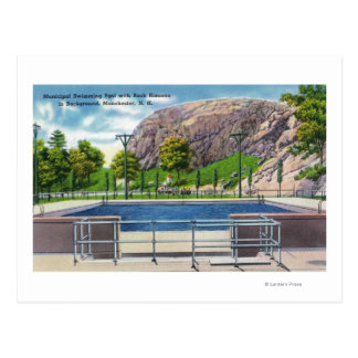 Städtische Pool-Ansicht des Felsens Rimmon Postkarte