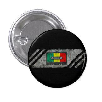 Städtische Reggaekassette Runder Button 2,5 Cm