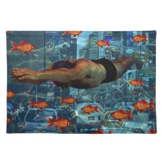 Städtische Schwimmer Tischset