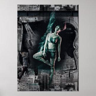 Städtische Stadt-Tänzerin Poster