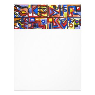 Städtische Straße zwei - abstrakte Kunst 21,6 X 27,9 Cm Flyer