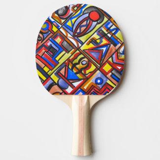 Städtische Straßen-Zwei-Abstrakte Kunst Tischtennis Schläger