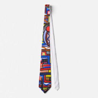 Städtische Straßen-Zwei-Geometrisches handgemaltes Krawatten