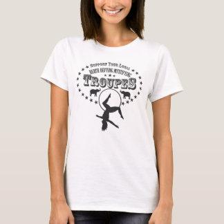 Städtische Zirkus-Truppen-Sterne stützen die T-Shirt