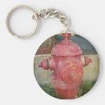Städtischer behandelter Hydrant Keychain.