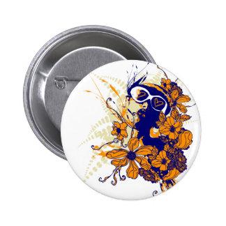 Städtischer Blumenknopf Runder Button 5,1 Cm