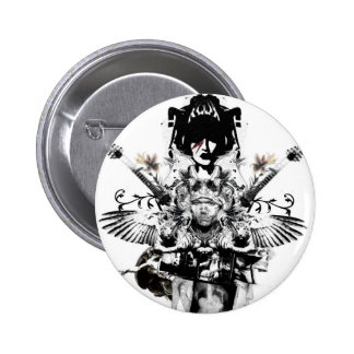 Städtischer Cowboy - rockstar - Knopf Runder Button 5,7 Cm