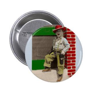 städtischer Cowboy Runder Button 5,7 Cm