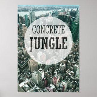 Städtischer Dschungel Poster