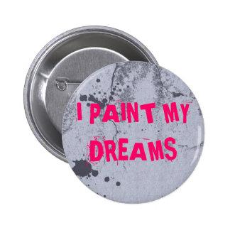 Städtischer Farben-Spritzer mit rosa Runder Button 5,7 Cm