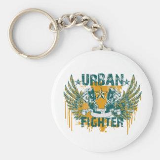 Städtischer Kämpfer Standard Runder Schlüsselanhänger
