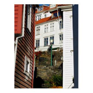 Städtischer Leser - Bergen in Norwegen Postkarte