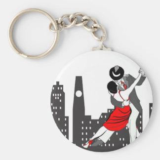 Städtischer Tango Schlüsselanhänger
