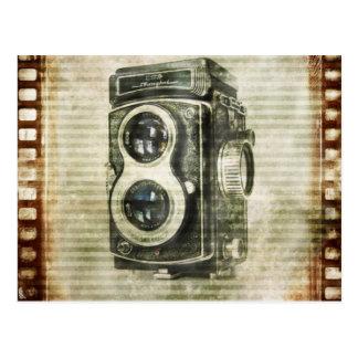 städtischer Vintager Grunge-Retro Kamerafilm Postkarte