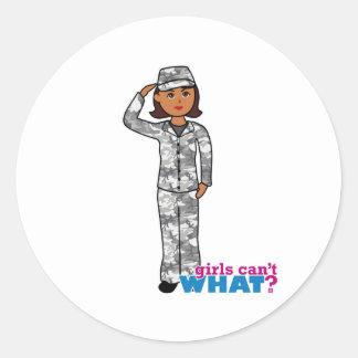 Städtisches Armee-Mädchen Runder Sticker