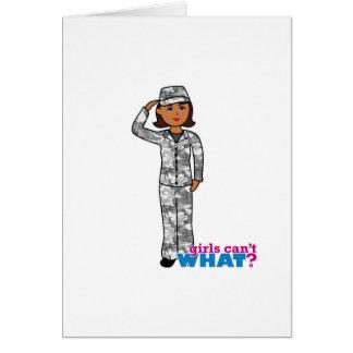 Städtisches Armee-Mädchen Grußkarte
