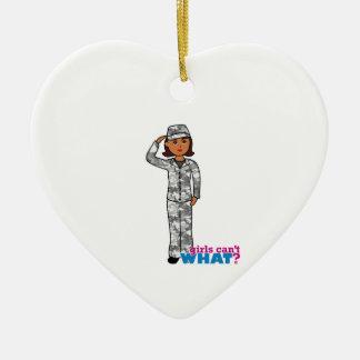 Städtisches Armee-Mädchen Keramik Herz-Ornament