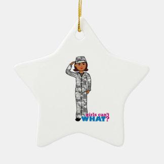 Städtisches Armee-Mädchen Ornament