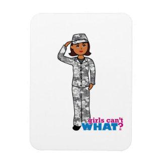 Städtisches Armee-Mädchen Eckiger Magnet