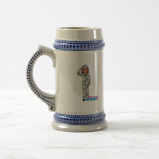Städtisches Armee-Mädchen Kaffee Tassen