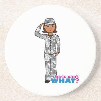 Städtisches Armee-Mädchen Untersetzer