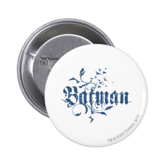Städtisches blaues Logo Batmans | Runder Button 5,7 Cm