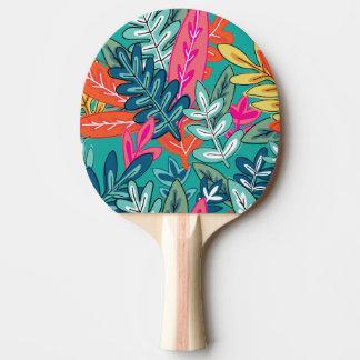 Städtisches buntes Dschungellaub Muster Tischtennis Schläger