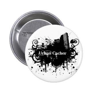 Städtisches Cacher Runder Button 5,7 Cm