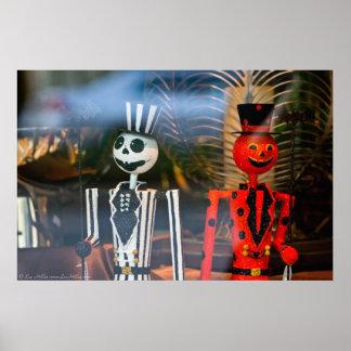 """Städtisches Fenster Halloween das """"Jack"""" O-Laterne Poster"""