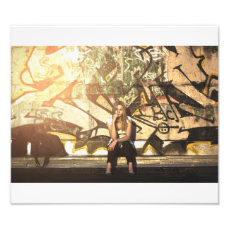 Städtisches Graffiti-Mädchen Kunst Photo