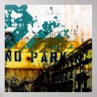 städtisches Graffitizerfallplakat Poster