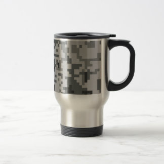 Städtisches graues Pixel-Camouflagemuster Reisebecher