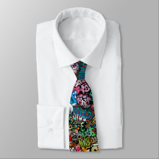Städtisches Straßenkunst Graffiti-Charaktermuster Personalisierte Krawatte