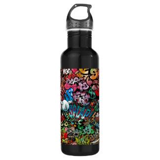 Städtisches Straßenkunst Graffiti-Charaktermuster Trinkflasche