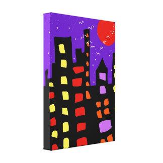 Stadtlichter Leinwanddruck