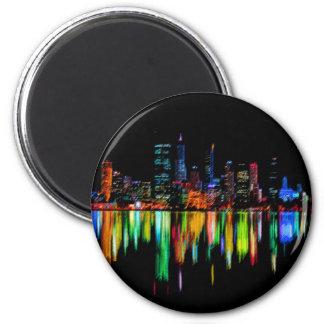 Stadtpanorama Runder Magnet 5,7 Cm