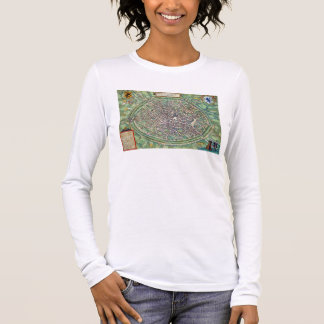 Stadtplan von Brügge, von 'Civitates Orbis Terraru Langarm T-Shirt