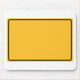 Stadtschild für eigenen Text Mousepad
