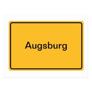 Stadtschild für eigenen Text Postkarte