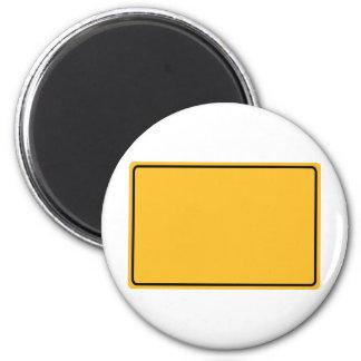 Stadtschild für eigenen Text Runder Magnet 5,1 Cm