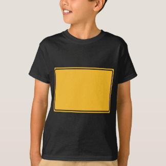 Stadtschild für eigenen Text T-Shirt