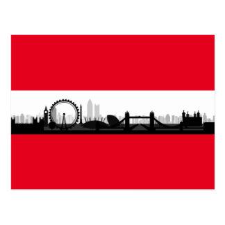 Stadtskyline-Foto-Bild-Postkarte Londons England