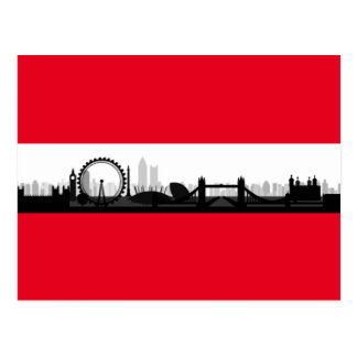 Stadtskyline-Foto-Bild-Postkarte Londons England Postkarten