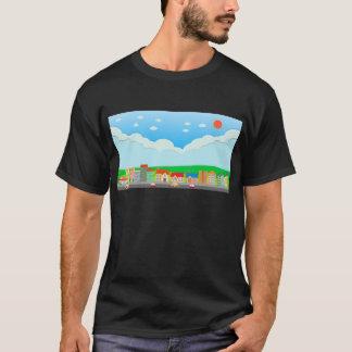 Stadtszene an der Tageszeit T-Shirt